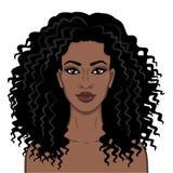 afrikansk skönhet E vektor illustrationer