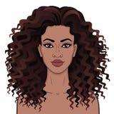 afrikansk skönhet E stock illustrationer