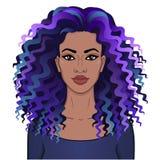 afrikansk skönhet E royaltyfri illustrationer