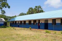 Afrikansk skola i Kenya Royaltyfri Bild
