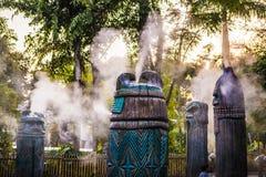 Afrikansk skulptur i Hong Kong Disneyland Fotografering för Bildbyråer