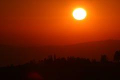 afrikansk soluppgång Fotografering för Bildbyråer