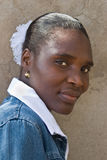 afrikansk ståendekvinna Arkivbilder