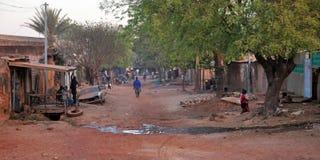 afrikansk stad Fotografering för Bildbyråer