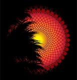 Afrikansk stam- konstvektorbakgrund Fotografering för Bildbyråer