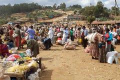 Afrikansk stam- marknad Arkivbild