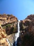 afrikansk stenig vattenfall Royaltyfria Foton