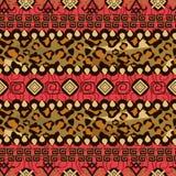 Afrikansk stil som är sömlös med gepardhudmodellen Royaltyfri Fotografi