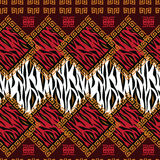 Afrikansk stilmodell med djur hud Royaltyfria Foton