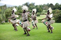 Afrikansk traditionell folkdans Royaltyfria Bilder