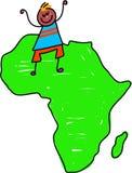 afrikansk unge stock illustrationer