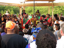 Afrikansk valsmusikunderhållning Fotografering för Bildbyråer