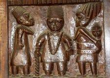 Afrikansk Wood lättnad som snider Yoruba Royaltyfri Fotografi