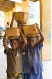 afrikanska barn Arkivbilder