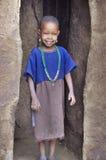 Afrikanska barn från Masaistammen Arkivbild