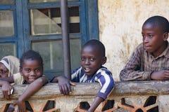 Afrikanska barn från Uganda Royaltyfri Foto