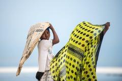 Afrikanska barn i den Zanzibar ön Royaltyfri Foto