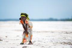 Afrikanska barn i den Zanzibar ön Arkivfoton