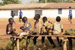 Afrikanska barn i Ghana Royaltyfria Bilder