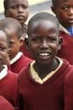 Afrikanska barn på skolan Royaltyfria Bilder