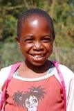 Afrikanska barn som lider från HJÄLPMEDELvirus i byn av Pom Royaltyfri Fotografi