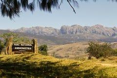 Afrikanska berg, Andringitra nationalpark Arkivfoto