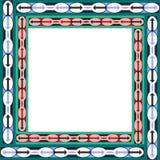 Afrikanska etniska modells ram med arrowes Royaltyfria Foton