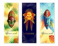 Afrikanska festliga vertikala baner vektor illustrationer