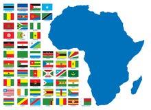 afrikanska flaggor vektor illustrationer