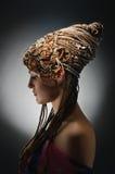 afrikanska flickaflätor royaltyfri bild