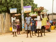 afrikanska flickor Fotografering för Bildbyråer