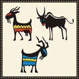 afrikanska inställda djurillustrationer Arkivfoto