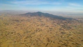 Afrikanska landskap från över fotografering för bildbyråer