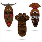 afrikanska maskeringar stock illustrationer