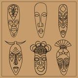 afrikanska maskeringar vektor illustrationer