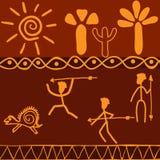 Afrikanska motiv royaltyfri illustrationer