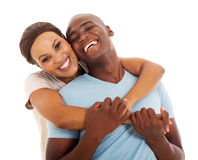 Afrikanska par stänger sig upp Arkivfoto