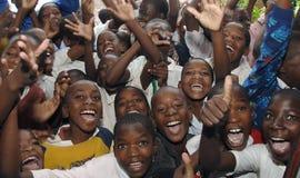 Afrikanska skolbarn Arkivfoto