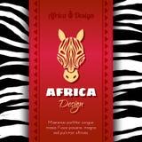Afrikanska stam- etniska Art Background Royaltyfria Foton
