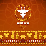 Afrikanska stam- etniska Art Background Royaltyfria Bilder