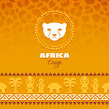 Afrikanska stam- etniska Art Background Arkivfoto
