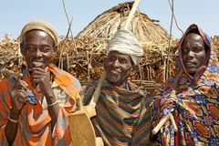 Afrikanska stam- män Fotografering för Bildbyråer