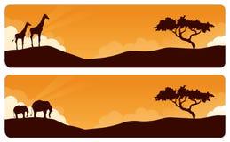 Afrikanska teman royaltyfri illustrationer