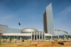 Afrikanska unionens högkvarter som bygger i Addis Ababa Arkivbild