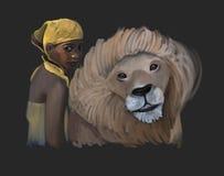 afrikanska vänner stock illustrationer