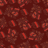 Afrikanskj seamless pattern Royalty Free Stock Images