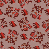 Afrikanskj seamless pattern Stock Photos