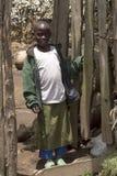 Afrikanskt barn i Rwanda Arkivfoton