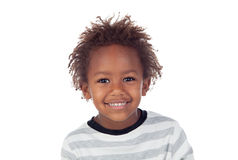 Afrikanskt barn som gör roliga framsidor Arkivfoto