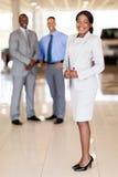 Afrikanskt bilförsäljarelag royaltyfria foton